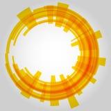 Абстрактный ретро круг технологии вектор Стоковые Изображения