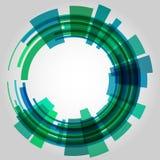Абстрактный ретро круг технологии вектор Стоковые Изображения RF