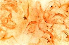 Абстрактный ржавый дым и брызгает воды на белизне Стоковое Изображение