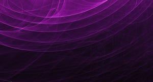 Абстрактный розовый и фиолетовый свет накаляет, лучи, формы на темной предпосылке Стоковая Фотография