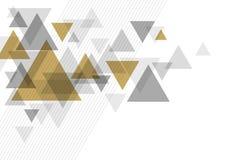 Абстрактный роскошный дизайн предпосылки треугольника иллюстрация штока