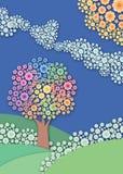 абстрактный сад предпосылки Стоковые Фотографии RF