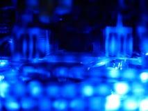 Абстрактный свет - голубое электронное Стоковые Изображения RF
