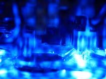 Абстрактный свет - голубое электронное Стоковые Фото