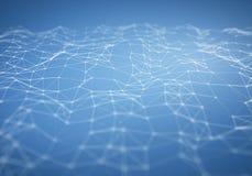 Абстрактный свет - предпосылка голубого полигонального сброса низкая поли Стоковая Фотография