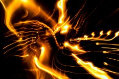 Абстрактный свет предпосылки с bokeh примечания музыки стоковые фотографии rf