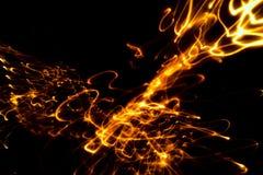 Абстрактный свет предпосылки с bokeh примечания музыки стоковое изображение