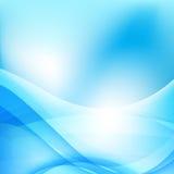 Абстрактный свет предпосылки - голубой элемент 001 кривой и волны Стоковое Изображение