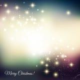 абстрактный свет рождества предпосылки Стоковые Изображения RF