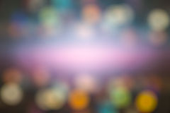 Абстрактный свет Bokeh ночи, запачканная предпосылка Стоковые Изображения RF