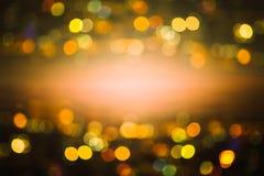 Абстрактный свет Bokeh ночи, запачканная предпосылка Стоковое Изображение