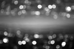 Абстрактный свет Bokeh ночи, запачканная предпосылка Стоковое Изображение RF