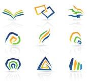 абстрактный свободный тип икон иллюстрация вектора