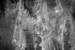 абстрактный серый цвет предпосылки Стена, grunge Стоковые Изображения