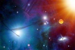 абстрактный сетноой-аналогов быть временем космоса тени половинной иллюстрации часов большим Стоковые Фотографии RF