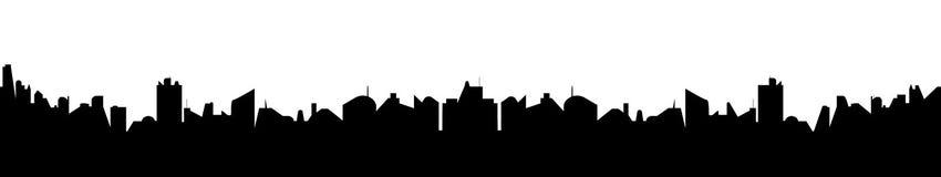 Абстрактный силуэт городского пейзажа Стоковое Изображение