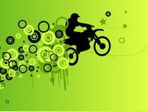 абстрактный силуэт мотоцикла Стоковая Фотография RF