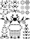 абстрактный силуэт флористических листьев элементов Иллюстрация вектора