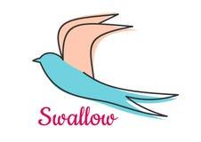 Абстрактный символ птицы ласточки Стоковая Фотография RF