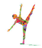 Абстрактный силуэт танцора Стоковая Фотография RF