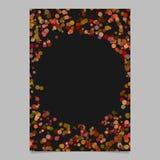 Абстрактный случайный шаблон страницы дизайна точки - пустой плакат Стоковое Изображение