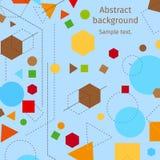 Абстрактный современный геометрический голубой дизайн вектора предпосылки с элементами линий и форм Abstractive стиль constructiv Стоковое Изображение RF