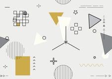 Абстрактный современный геометрический состав Стоковая Фотография