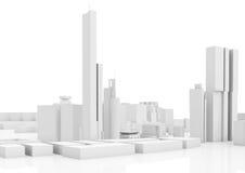 Абстрактный современный городской пейзаж, высокорослые дома Стоковое Изображение RF