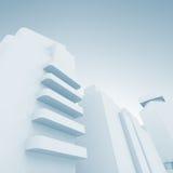 Абстрактный современный городской пейзаж над голубым небом Стоковые Изображения