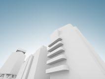 Абстрактный современный городской пейзаж 3 d представляет Стоковая Фотография