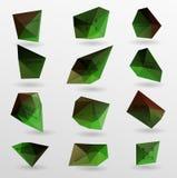 Абстрактный современный полигональный пузырь, вебсайт ярлыка Стоковое Изображение
