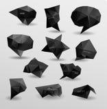 Абстрактный современный полигональный пузырь, вебсайт ярлыка Стоковая Фотография RF