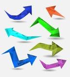 Абстрактный современный полигональный пузырь, вебсайт ярлыка Стоковое фото RF