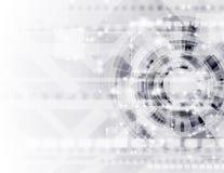 Абстрактный современный шаблон вектора технологии Стоковые Фото