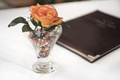 Абстрактный состав в ресторане Стоковое фото RF