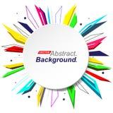 Абстрактный состав Дизайн фона моды Minimalistic Значок взрыва круга Логотип бренда Текстура шрифта диапазона заплаты Стоковое Изображение