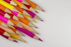 Абстрактный состав деревянных карандашей цвета Стоковое Изображение RF