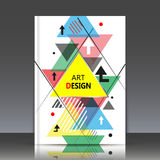 Абстрактный состав, лист названия брошюры a4, геометрическая форма, значок летая треугольника, фон конструкции логотипа, te визит Стоковые Изображения RF