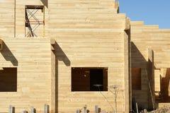 Абстрактный состав конструкции рамки нового дома и глубоко Стоковое Изображение RF