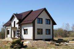 Абстрактный состав конструкции рамки нового дома и глубоко Стоковые Изображения RF