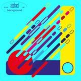 Абстрактный состав раскосных линий и геометрических форм в ярких цветах иллюстрация вектора