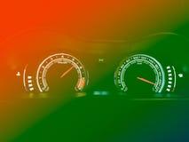 Абстрактный спидометр автомобиля Стоковое Фото
