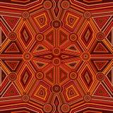 Абстрактный стиль австралийского аборигенного искусства Стоковое Изображение