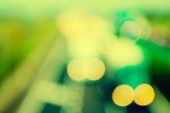 абстрактный стиль - винтажные Defocused света шоссе Стоковые Изображения RF