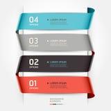Абстрактный стиль ленты шаблона infographics. Стоковое Изображение