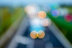 Абстрактный стиль - Defocused света шоссе Стоковое Изображение RF