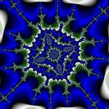 Абстрактный сюрреалистический зеленый цвет предпосылки/фрактали голубой/снежинка Стоковое Фото