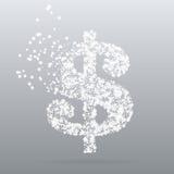 Абстрактный творческий значок вектора концепции доллара Стоковые Изображения