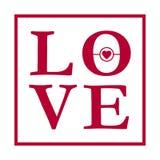 Абстрактный творческий план дизайна вектора с литерностью - влюбленностью Рукописный плакат каллиграфии Стоковые Фотографии RF