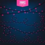 Абстрактный творческий свет гирлянды рождества изолированный на предпосылке шаблон Искусство clipart иллюстрации вектора для Xmas Стоковое Изображение RF
